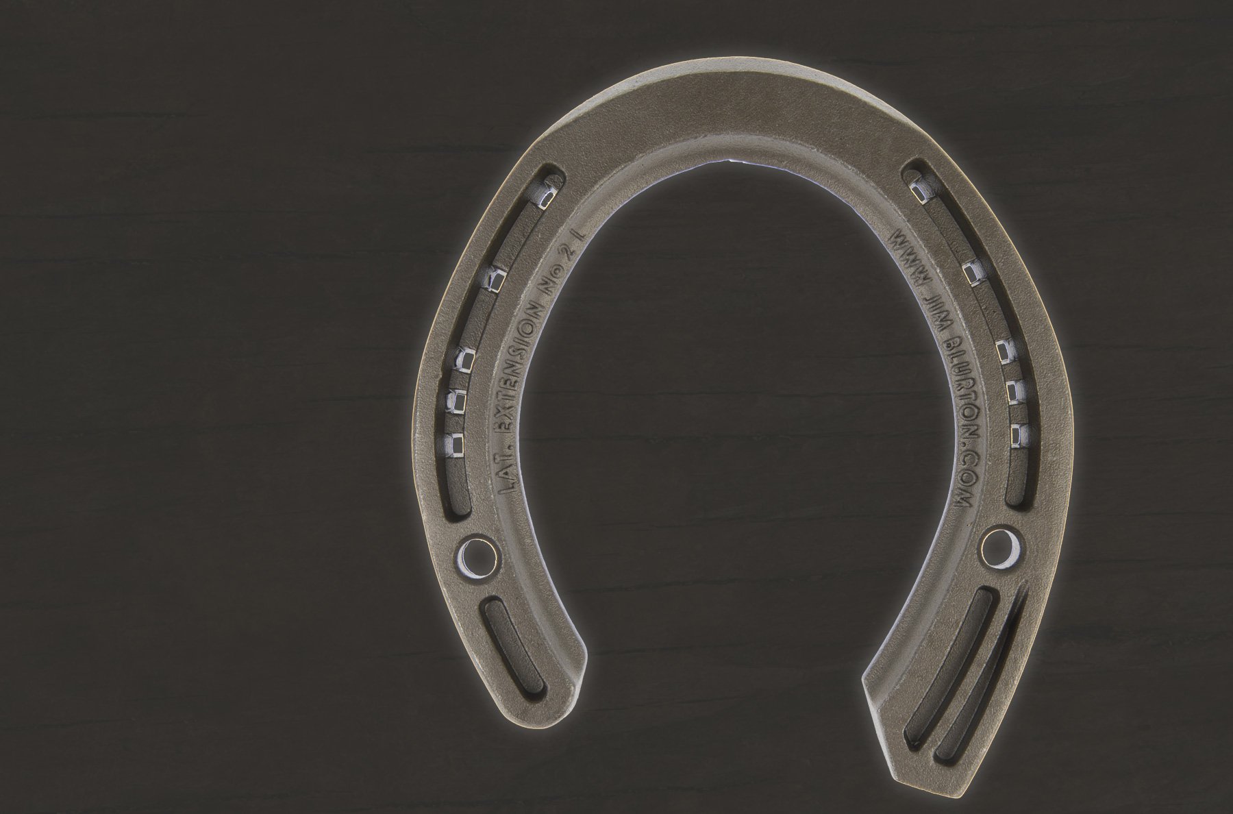 Jim Blurton Lateral Extension - Hind Shoe - Side Clipped, visit the shop to buy online, horseshoes, farrier tools & accessories distributed worldwide.