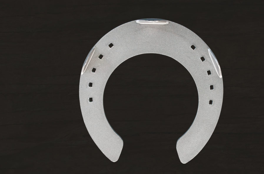 Aluminium Suspensory Shoe - visit the official Jim Blurton shop to buy online, horseshoes, farrier tools & accessories distributed worldwide.